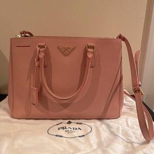 Medium Pink Saffiano Leather Prada Galleria Bag
